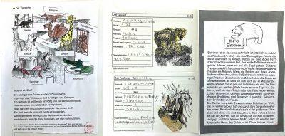 Thema Zootiere: Arbeitsblatt und Steckbriefe von Linus